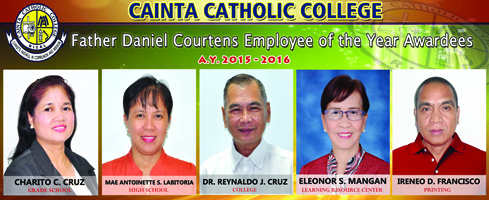 Fr. Daniel Courtens Employee of the Year