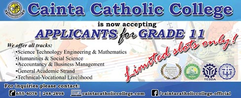 CCC is now accepting applicants for Senior High School